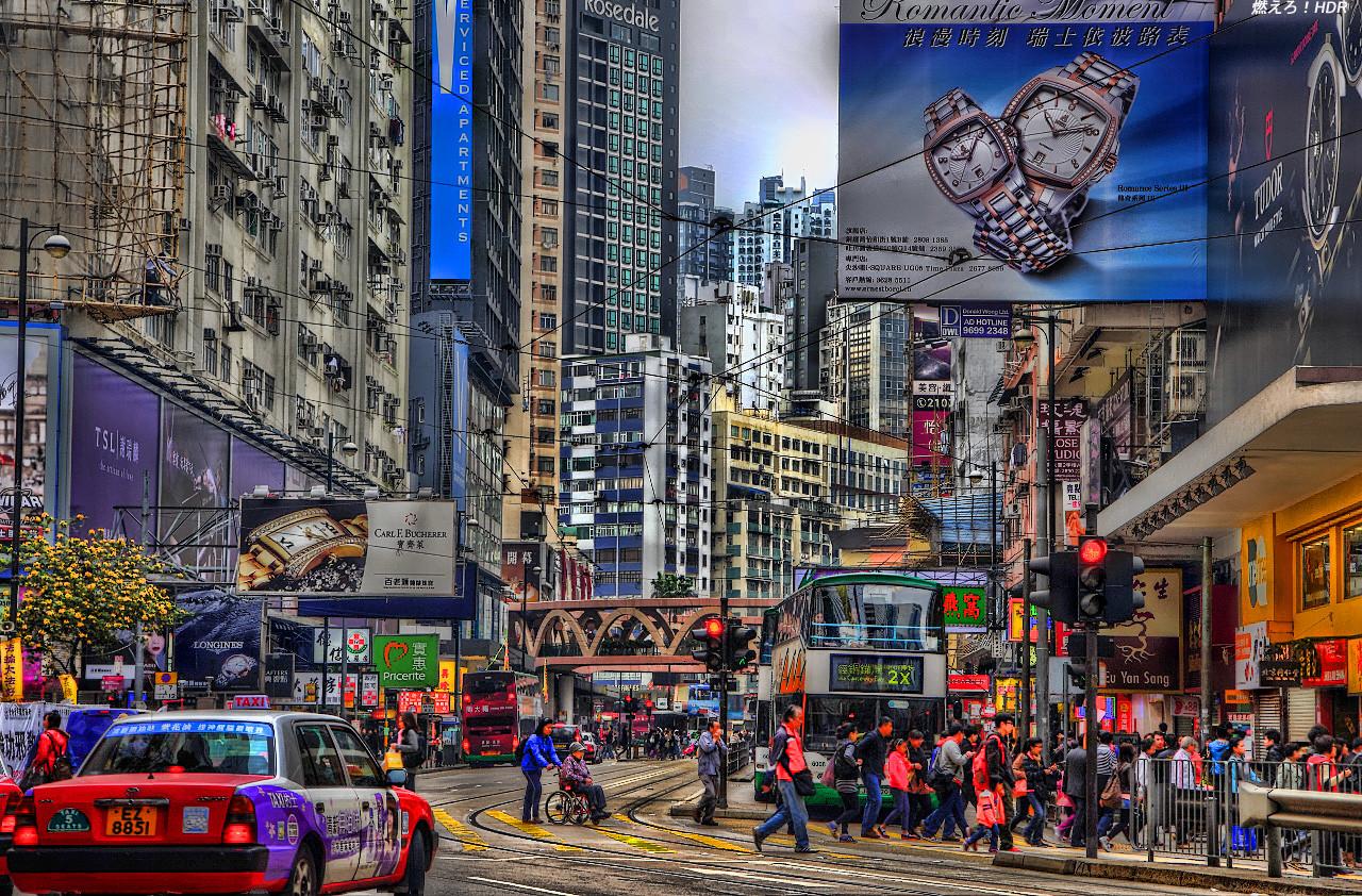 香港一人旅7 尖沙咀から銅鑼灣 : 燃えろ!HDR