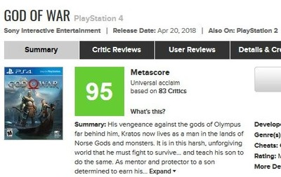 God of War for PlayStation 4 Reviews -