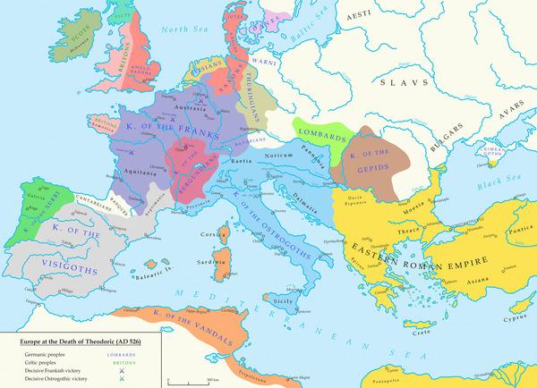 古代末期のヨーロッパの歴史を適...
