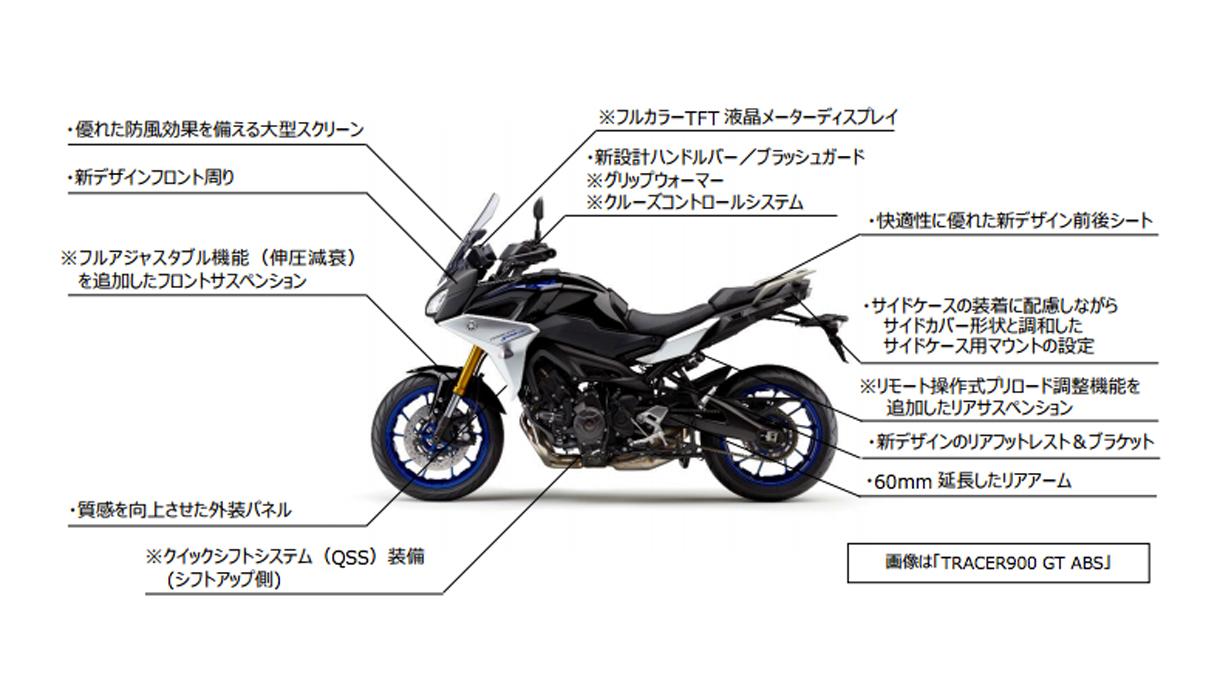 【4/11】2018年モデルの新型TRACER900/GTと旧型MT-09トレーサーの比較 : 個人的バイクまとめブログ