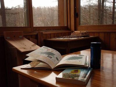 雨に図書室