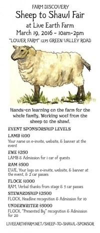Sheep to Shawl Sponsor  Live Earth Farm
