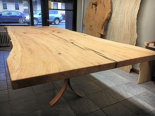 Beech Dining Table Live Edge Slabs New Mexico