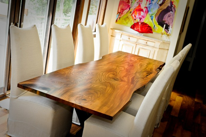 Red Elm Live Edge Dining Table – Vail, Colorado