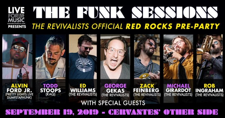 the revivalists, revivalists red rocks, revivalists funk sessions, revivalists denver