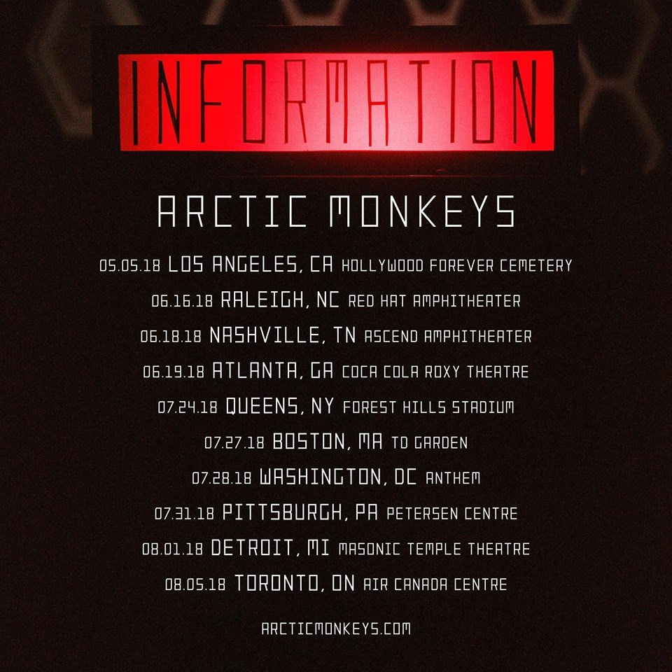 Arctic Monkeys Announce First North American Tour Since 2014