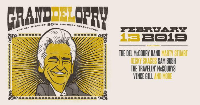 Del McCoury Announces 80th Birthday Show Featuring Sam Bush, Vince