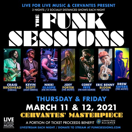 funk sessions, funk sessions march, funk sessions cervantes, funk sessions denver, funk sessions live for live music