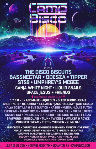 Camp Bisco, Camp Bisco Lineup, Camp Bisco 2019, camp bisco 2019 lineup