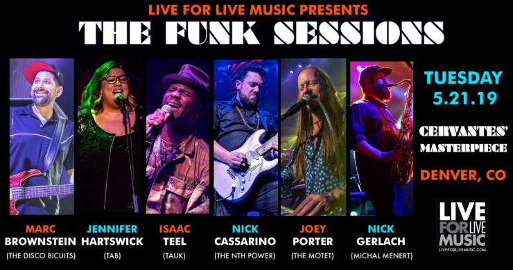 Funk Sessions, The Funk Sessions, Marc Brownstein, Isaac Teel, JEnnifer Hartswick, Nick Cassarino, Joey Porter, Nick Gerlach, Cervantes', Denver Live Music