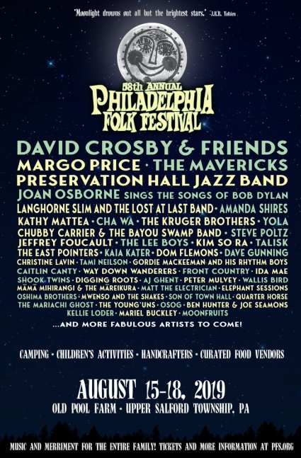 Philadelphia Folk Festival, Philadelphia Folk Festival 2019, Philadelphia music festival