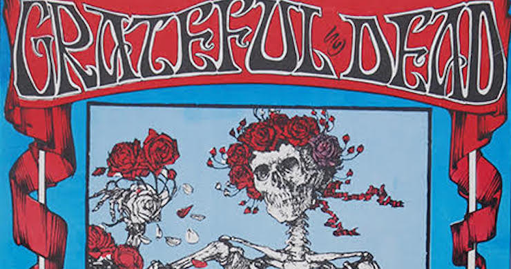 "Grateful Dead ""Skeleton and Roses"" Concert Poster From 1966 Sells For Record $56k"