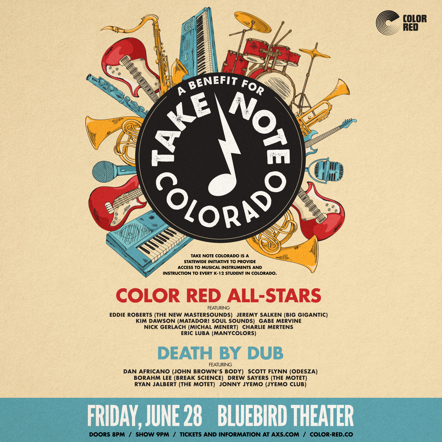 Color Red All Stars, Take Note Colorado
