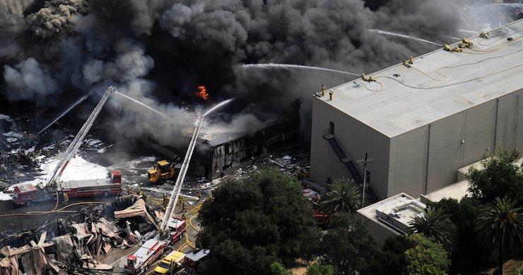 Universal Backlot Fire, Universal Backlot Fire 2008, Universal Studios fire