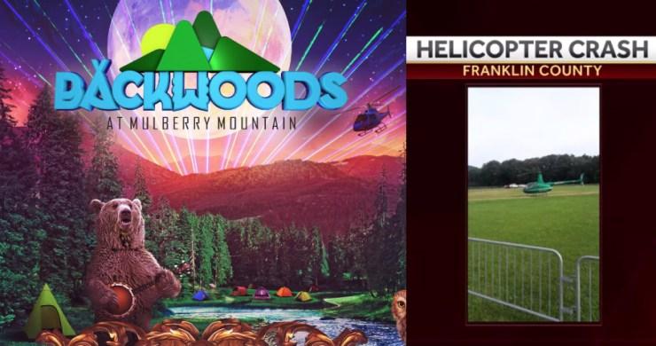 Backwoods helicopter, backwoods helicopter crash, helicopter crash, backwoods at mulberry mountain