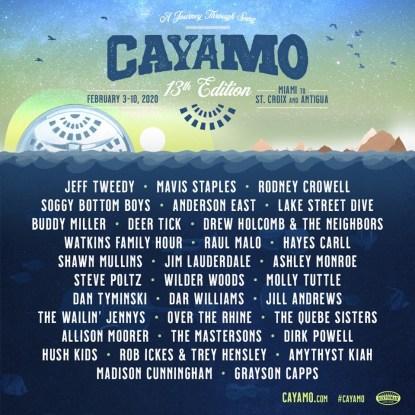 caymo, caymo 2020, caymo cruise, caymo cruise 2020 lineup, caymo cruise jeff tweedy, caymo cruise mavis staples, caymo cruise tickets, jam cruise 2020, jam cruise 2020 tickets, jam cruise 2020 lineup