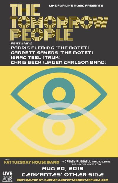 Tomorrow People, Tomorrow People Cervantes, Tomorrow People Denver, Fat Tuesday House Band