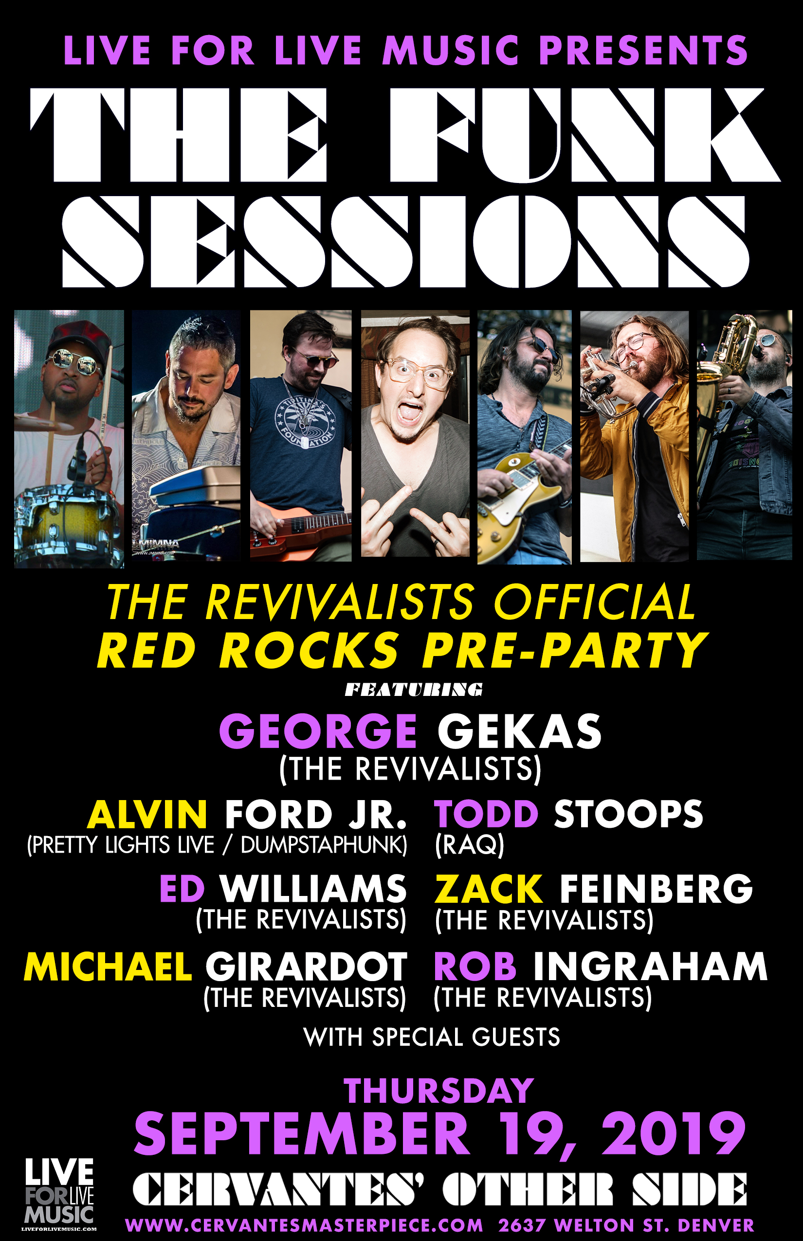 The Funk Sessions, Revivalists Pre-Party