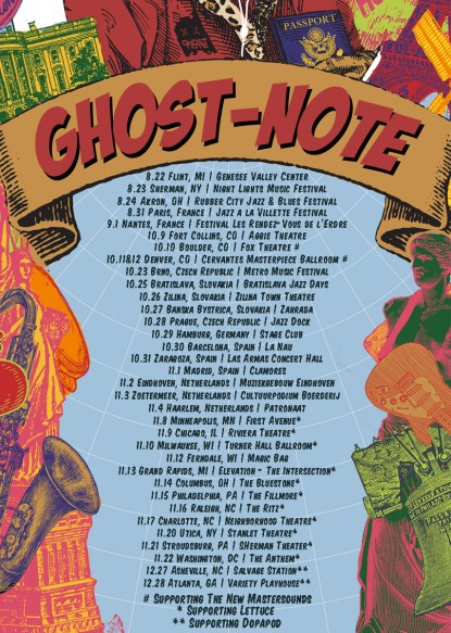 ghost-note, ghost-note music, ghost-note tour, ghost-note world tour, ghost-note 2019 tour, ghost-note tickets, ghost-note funk