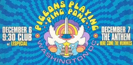 pigeons playing ping pong, pigeons playing ping pong 2019, pigeons playing ping pong tour