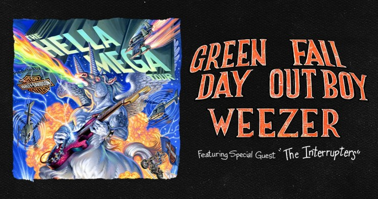 weezer green day fall out boy, hella mega tour, green day tour, weezer tour, fall out boy tour, weezer tickets, hella mega tour tickets
