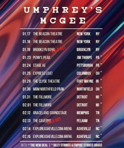 umphrey's mcgee hindsight 2020 tour