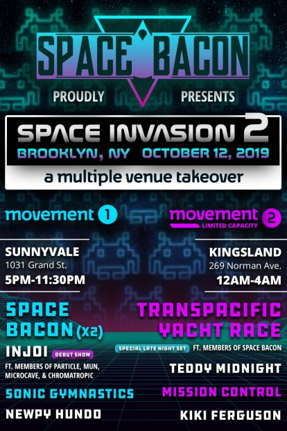 space bacon, space bacon space invasion, space bacon 2019, space bacon tickets