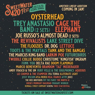 sweetwater 420 fest lineup, 420 fest lineup