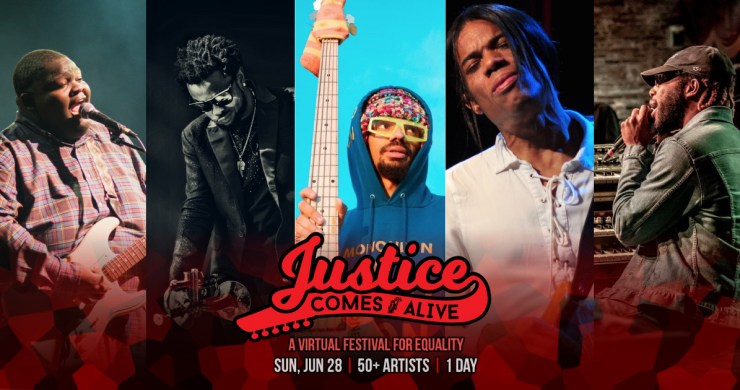 """Justice Comes Alive, Justice Comes Alive instrumentalists, JCA, Christone """"Kingfish"""" Ingram,Maurice Brown,MonoNeon,Stanley Jordan,Cory Henry, cory henry justice comes alive, kingfish justice comes alive, maurice brown justice comes alive, stanley jordan justice comes alive, virtual festival"""