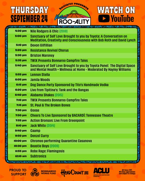 bonnaroo thursday, virtual roo-ality thursday