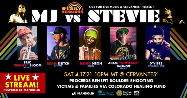 MJ VS STEVIE, the funk sessions mj stevie, funk sessions mj stevie, funk sessions livestream, mj vs stevie livestream, live for live streams, live for live music stream