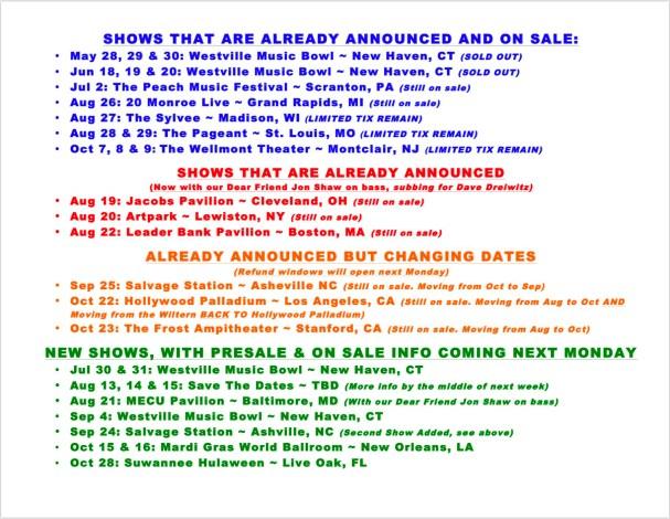 jrad tour, jrad tour dates, jrad rescheduled tour dates