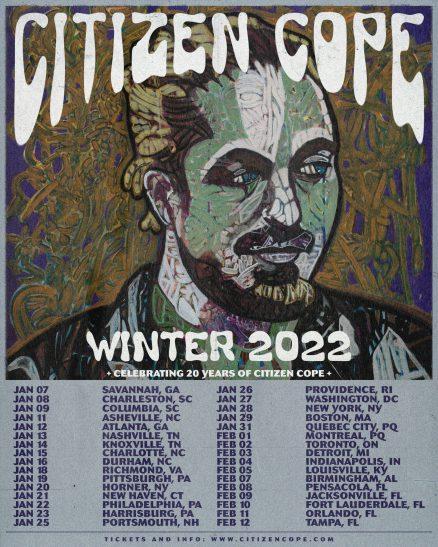 citizen cope, citizen cope tour, citizen cope 20th anniversary tour, citizen cope winter tour, citizen cope tour 2022, citizen cope tour dates 2022, citizen cope tickets