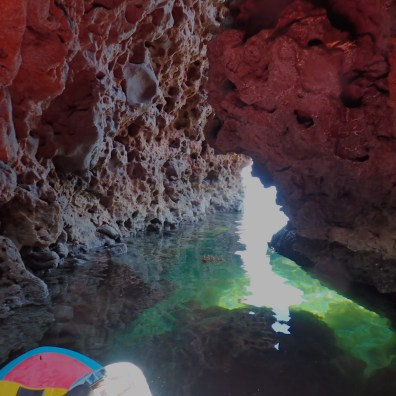 Paddling is the only way to explore this cave unscathed.