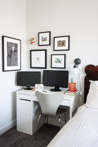 Small Office in Master Bedroom- One Little Minute