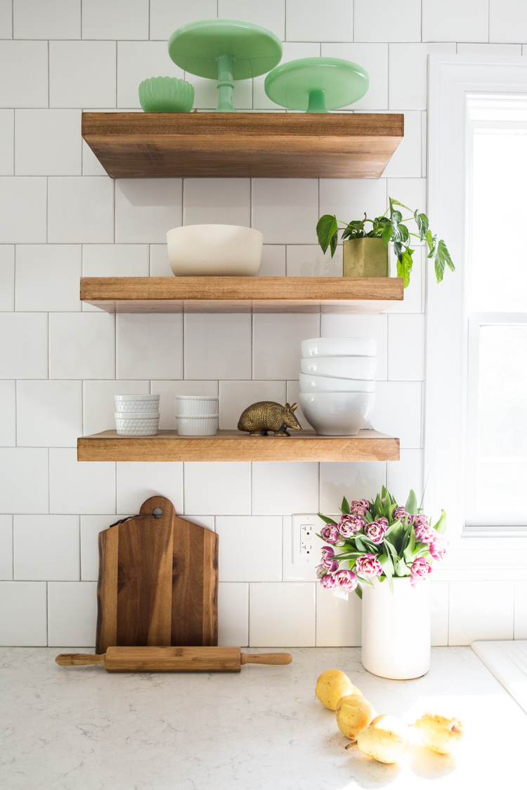 wood shelves kitchen restaurant equipment how to make diy floating live free creative co it was tricky find exactly what i looking for in the stain and length that wanted so did any self respecting er would do made them