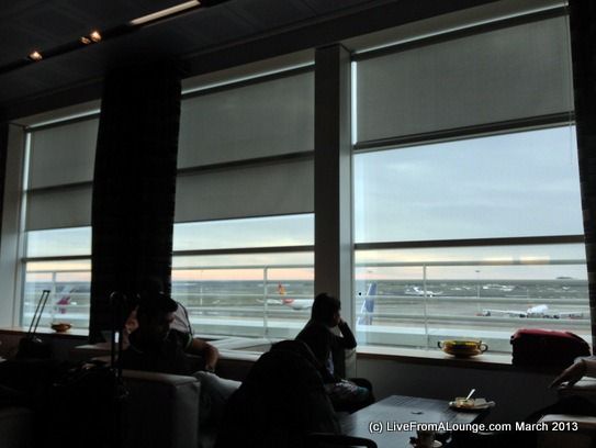View from the Jet Airways' Brussels Lounge