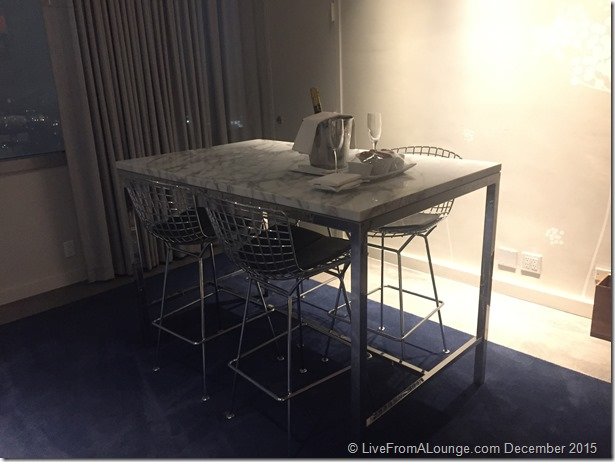 Andaz West Hollywood Penthouse Suite Living Room Dining High Table