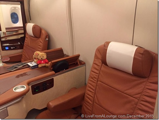 Onboard Singapore Airlines First Class Suites