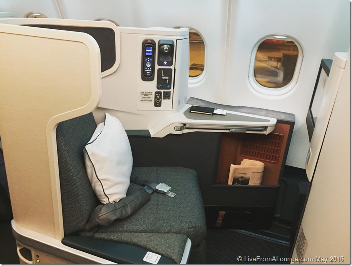 Cathay Pacific Business Class Hong Kong to Mumbai