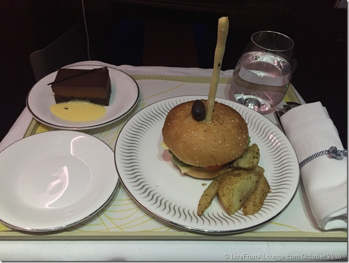 Dine Anytime Snacks on Jet Airways BOM-AMS Business Class