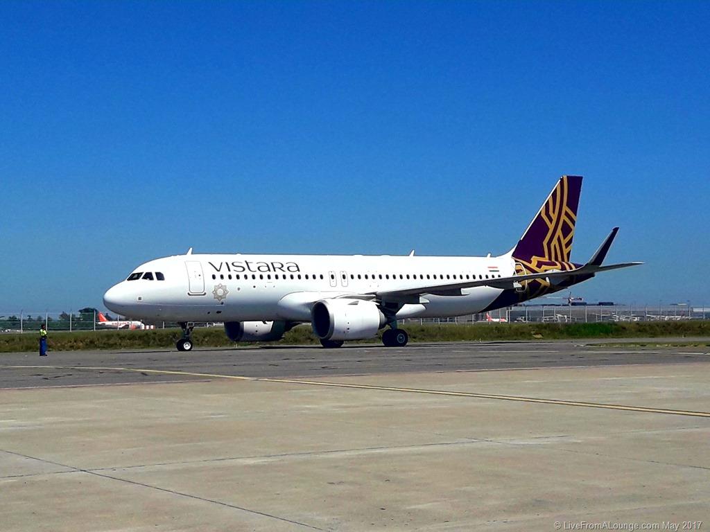 Vistara A320Neo at Toulouse