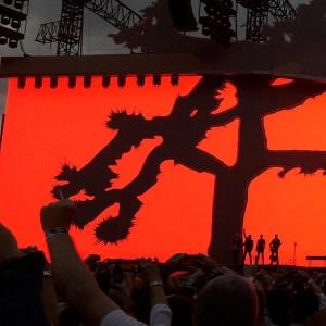 U2 on stage at Croke Park under The Joshua Tree