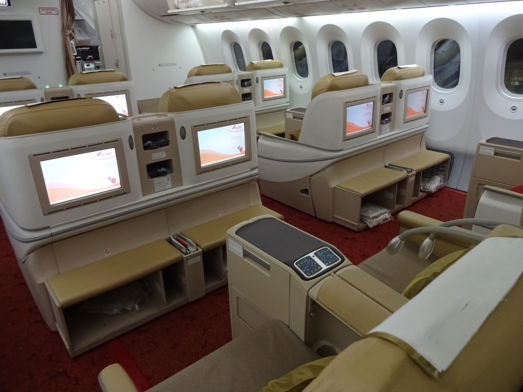 Air India 787-8 Business Class Cabin