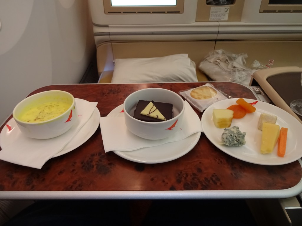 Air India 787-8 Business Class Dessert Service