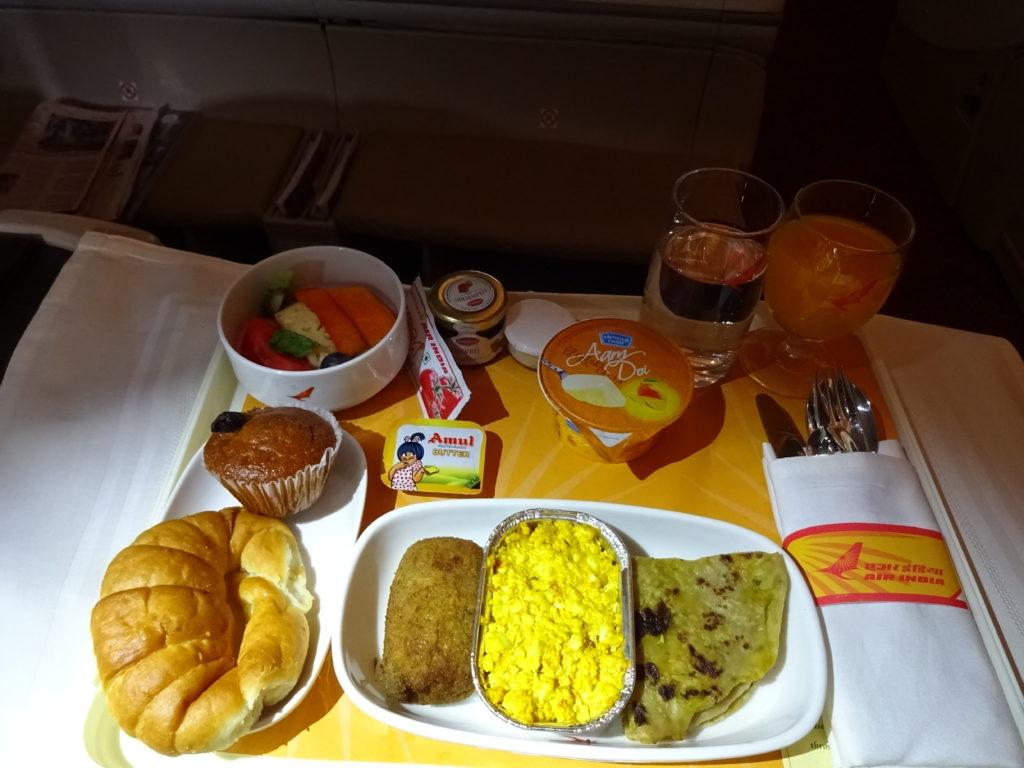 Air India Paneer Bhurji Breakfast