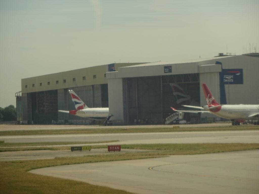 Virgin Atlantic and British Airways Hangars