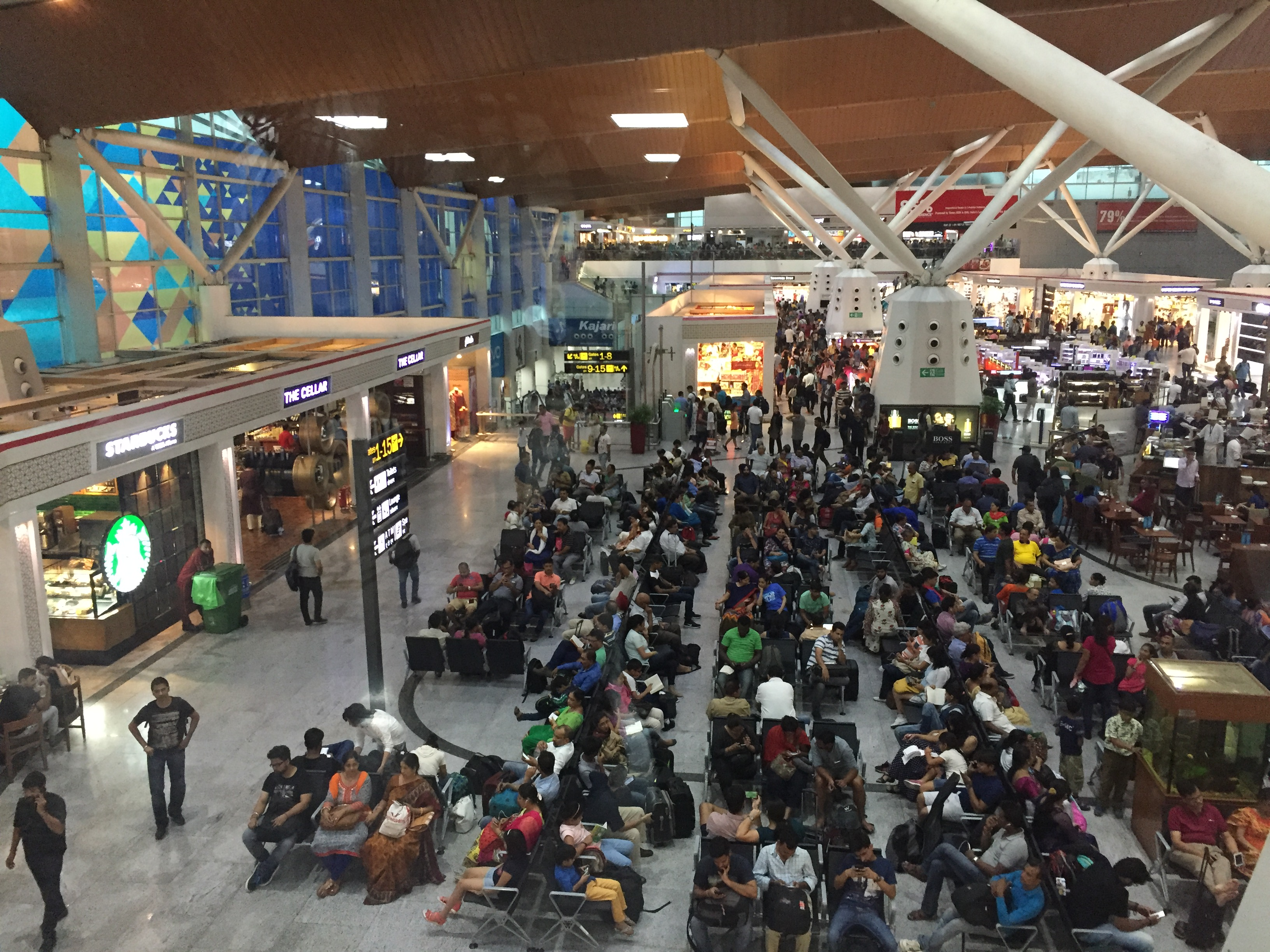 Delhi Airport Terminal 1 Crowd