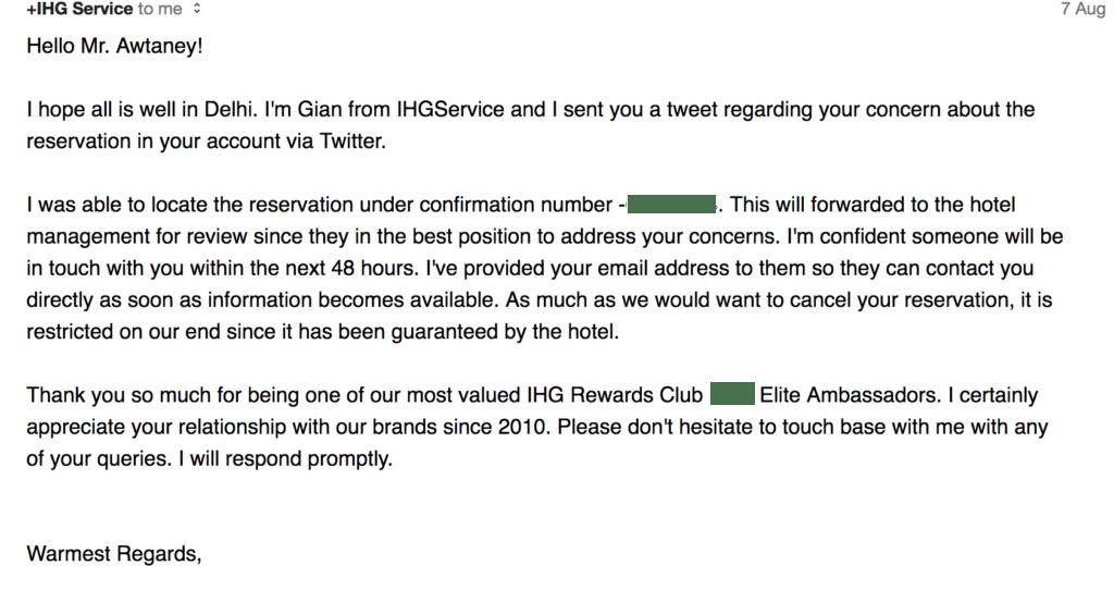 IHG Email
