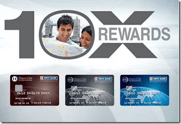Get HDFC 10X on Diners Club International Spend too